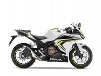Honda CBR500R, bílá Metalloid White