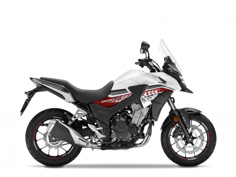 Honda CB500X ABS, bílá Horizon