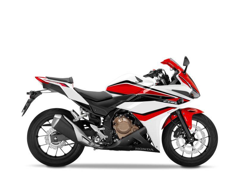 Honda CBR500R, bílo červená