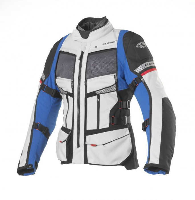 CLOVER textilní bunda GTS-4 Airbag, BL/GR