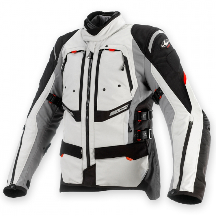 CLOVER textilní bunda GTS-3 Airbag, N/GR