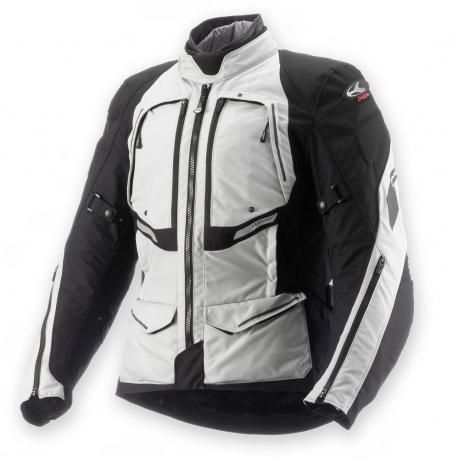 CLOVER textilní bunda GTS AIRBAG, N/GR