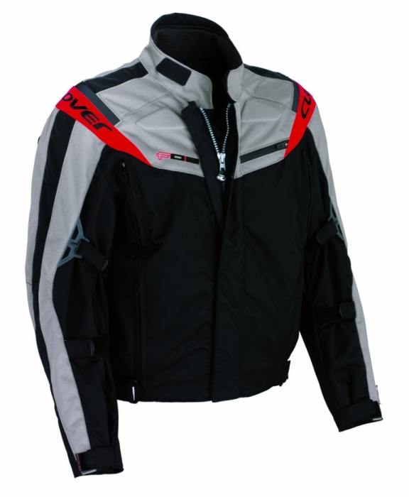 CLOVER textilní bunda F-03, N/GR