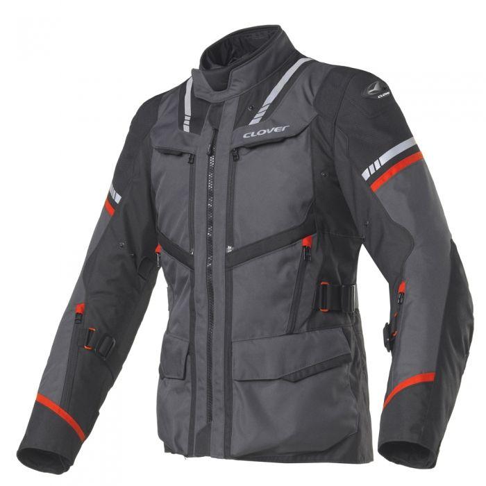 CLOVER textilní bunda Savana-3, N/GRA