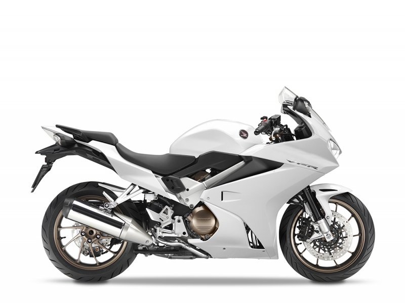 Honda VFR800F, bílá Glare