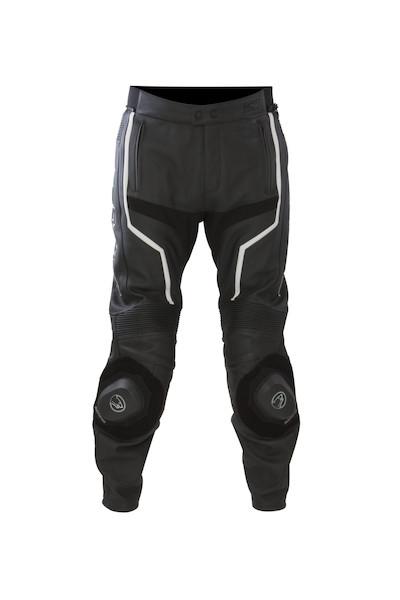 BERING kožené kalhoty Flash, BLK/WHT