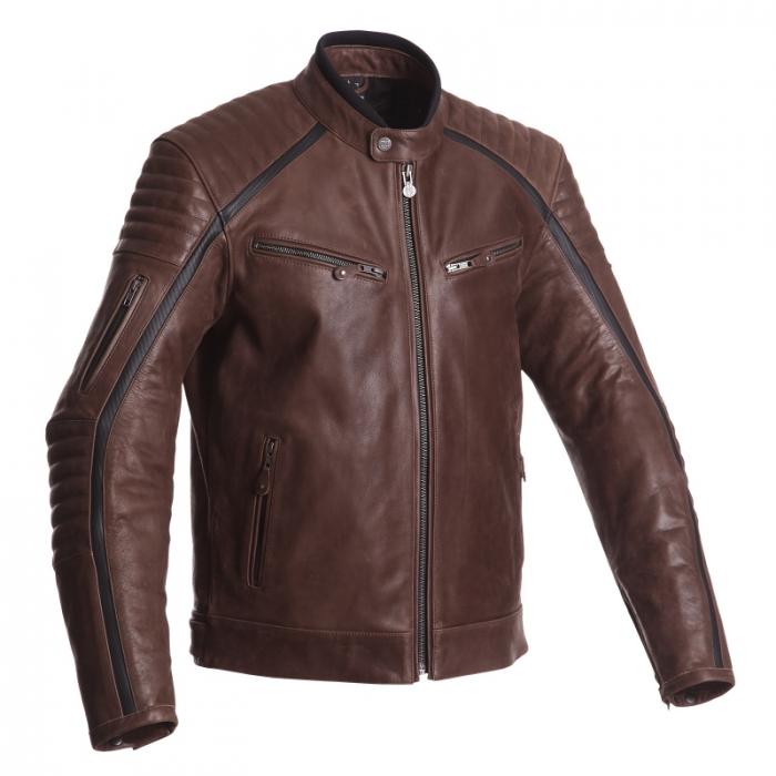 SEGURA kožená bunda Horner, BRW/Carbon