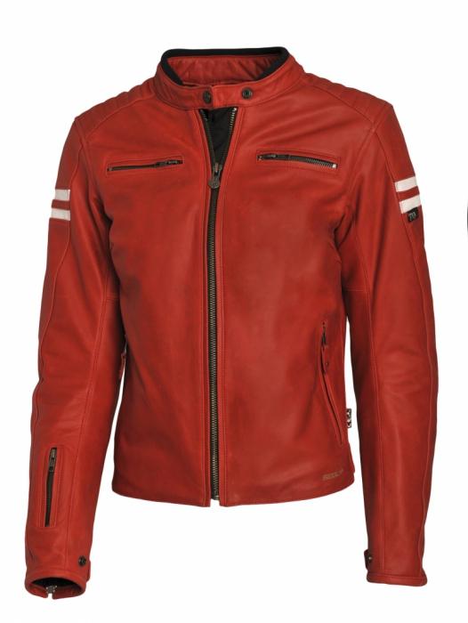 SEGURA kožená bunda Retro lady, RED/WHT