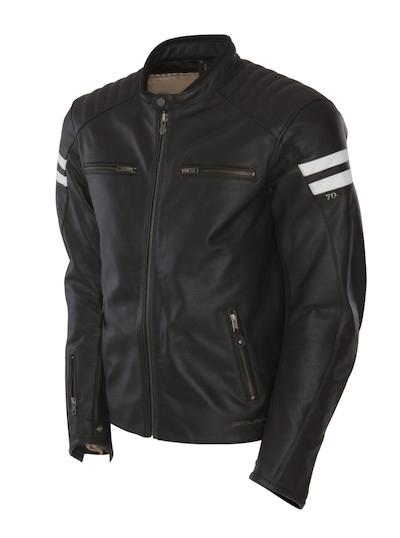 SEGURA kožená bunda Retro, BLK/WHT