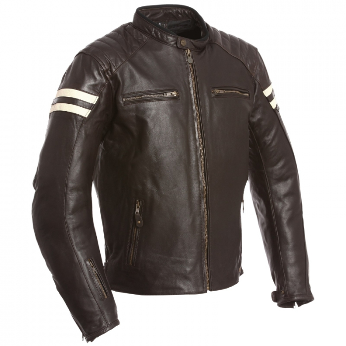 SEGURA kožená bunda Retro, BRW/BEIGE