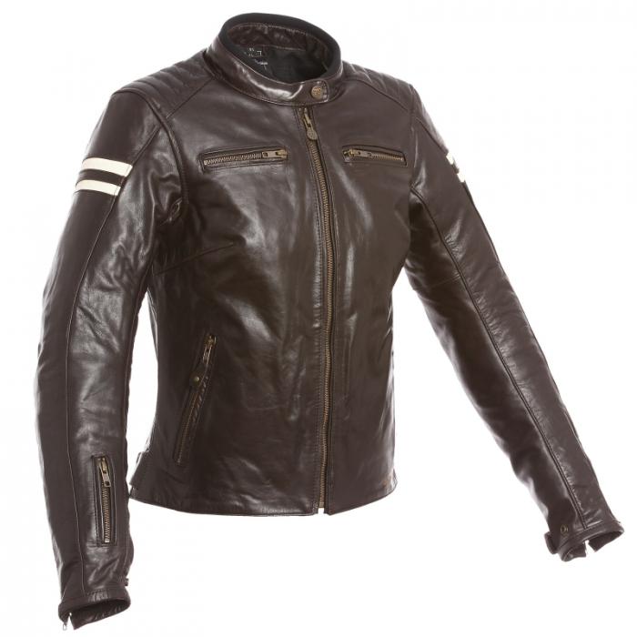 SEGURA kožená bunda Retro lady, BRW/BEIGE