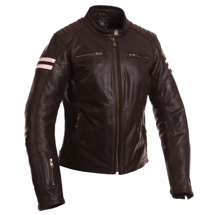 SEGURA kožená bunda Retro lady, BRW/PINK